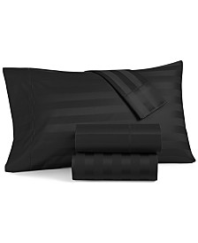 Charter Club Damask Stripe Full 4-Pc Sheet Set, 550 Thread Count 100% Supima Cotton, Created for Macy's