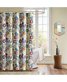 "Tamil 72"" x 72"" Paisley-Print Shower Curtain"