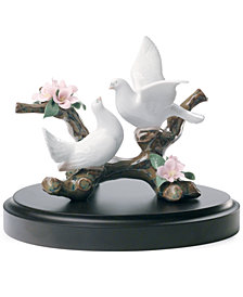 Lladro Collectible Figurine, Doves On Cherry Tree