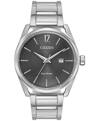 Citizen Drive From Citizen Eco-Drive Men's Stainless Steel Bracelet Watch 42mm