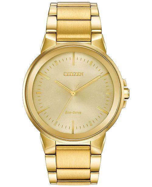 87cff6c078b ... Citizen Eco-Drive Men s Axiom Gold-Tone Stainless Steel Bracelet Watch  ...