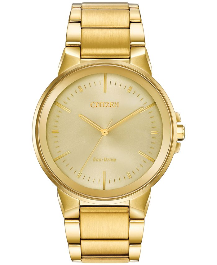 Citizen - Men's Axiom Gold-Tone Stainless Steel Bracelet Watch 41mm