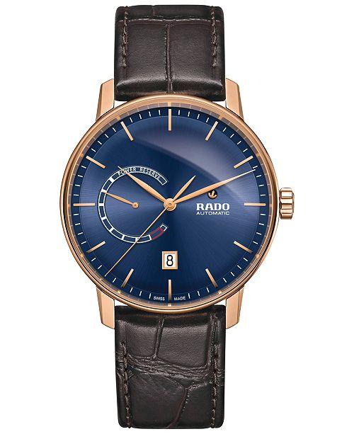 fd071e59379 ... Rado Men s Swiss Automatic Coupole Classic XL Brown Leather Strap Watch  ...