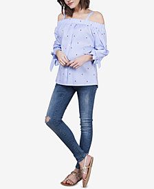 Seraphine Maternity Off-The-Shoulder Blouse