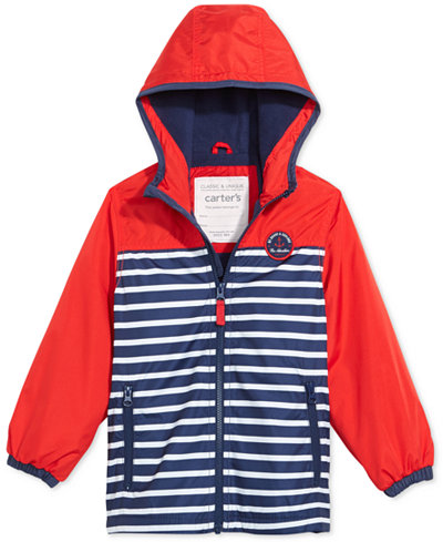 Carter's Striped Hooded Jacket, Toddler Boys