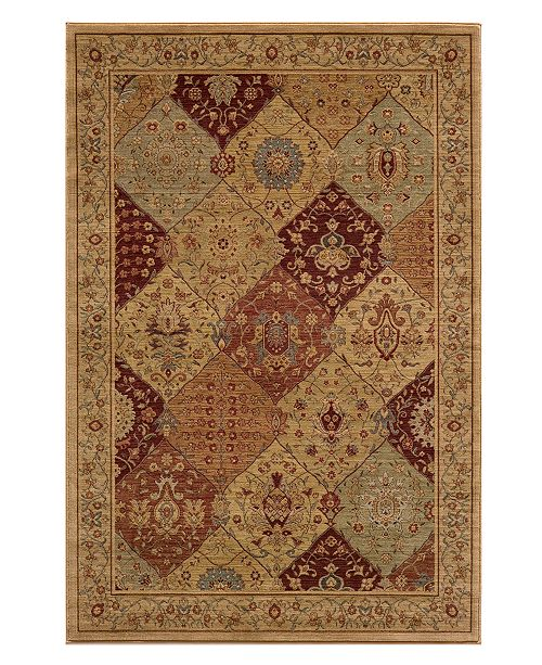 "Momeni CLOSEOUT! Area Rug, Belmont  BE-01 Burgundy 5' 3"" X 7' 6"""
