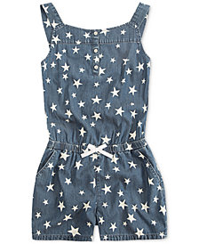 Levi's® Cotton Henley Romper, Little Girls