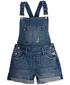 Levi's® Cotton Denim Boyfriend Shortall, Big Girls