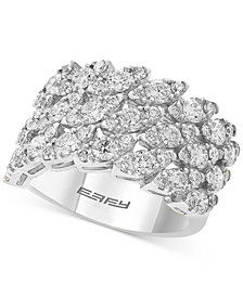 EFFY® Marquise-Look Cluster Ring (2-1/4 ct. t.w.) in 14k White Gold