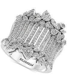 EFFY® Diamond Wide Statement Ring (1 ct. t.w.) in 14k White Gold