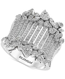 EFFY® Diamond Wide Statement Ring (1 ct. t.w.) in 14k White Gold