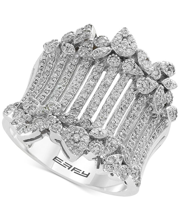 EFFY Collection - Diamond Wide Statement Ring (1 ct. t.w.) in 14k White Gold