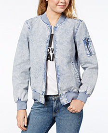 Levi's® Acid-Wash Bomber Jacket