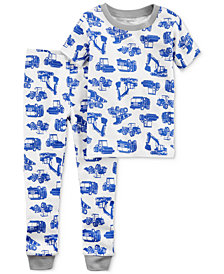 Carter's 2-Pc. Truck-Print Cotton Pajamas, Little Boys & Big Boys