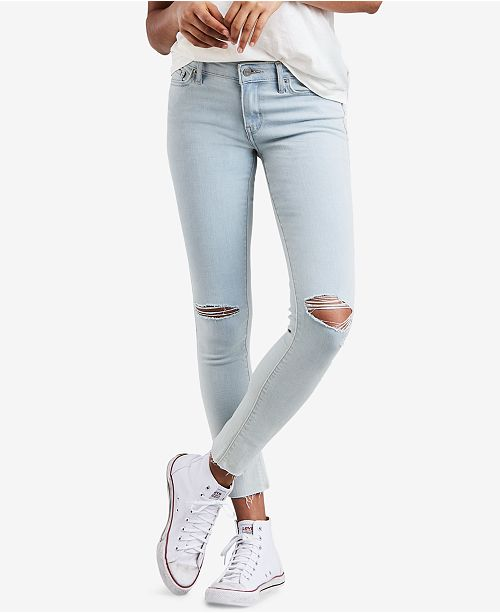 d421628fe1 Levi s 711 Ripped Skinny Jeans   Reviews - Jeans - Women - Macy s