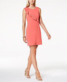 Charter Club Petite Ruffled Shift Dress, Created for Macy's