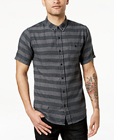 Ezekiel Men's Black Rock Striped Button-Up Shirt