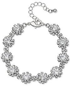 Jewel  Badgley Mischka Crystal Cluster Link Bracelet