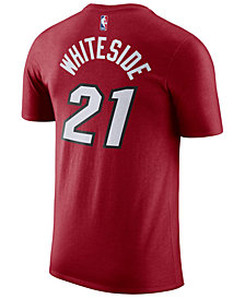 Nike Hassan Whiteside Miami Heat Statement Name and Number T-Shirt, Big Boys (8-20)