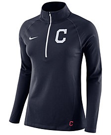 Nike Women's Cleveland Indians Half-Zip Element Pullover