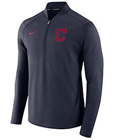 Nike Men's Cleveland Indians Dry Elite Half-Zip Pullover