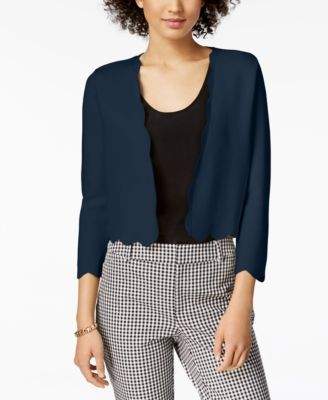 Cropped Scalloped Cardigan, Created for Macy's