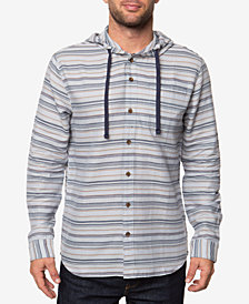 O'Neill Men's Currington Dobby Stripe Hooded Shirt