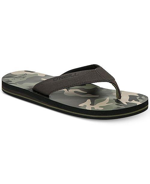 79127f170fe O Neill Men s El Porto Camo-Print Sandals   Reviews - All Men s ...