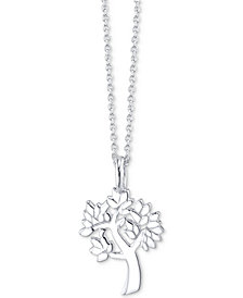 "Unwritten Tree Pendant Necklace in Sterling Silver, 16"" + 2"" extender"
