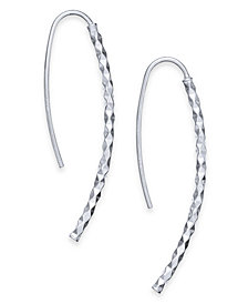 Giani Bernini Textured Threader Earrings in Sterling Silver, Created for Macy's