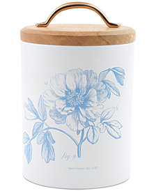 CLOSEOUT! Thirstystone Medium Floral Canister with Wood Top