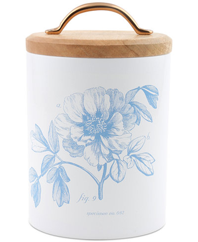 Thirstystone Medium Floral Canister with Wood Top