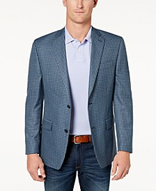 Men's Classic-Fit Blue Check Sport Coat