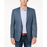 Deals on Michael Kors Mens Classic-Fit Blue Check Sport Coat