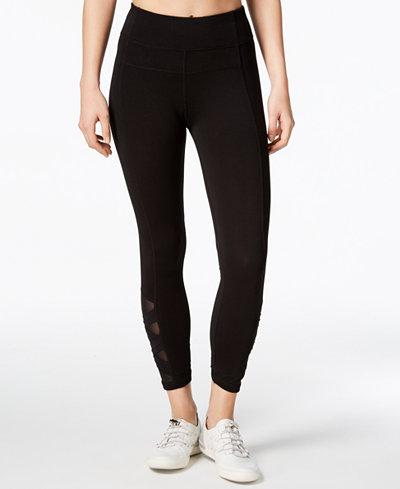 Calvin Klein Performance High-Rise Mesh-Inset Leggings