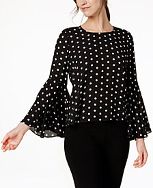 Vince Camuto Flared-Sleeve Top, Created for Macy's