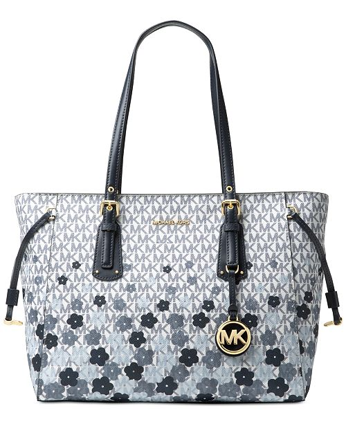 443f489d14a22 Michael Kors Voyager Signature Floral Medium Tote   Reviews ...