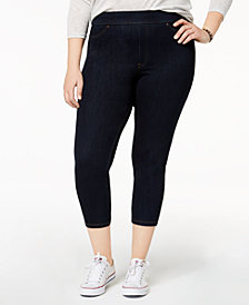 HUE® Women's  Plus Size Original Denim Capri Leggings