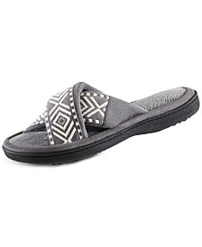 Isotoner Signature Women's Embroidered Anita X-Band Slides