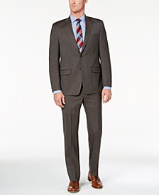 Lauren Ralph Lauren Men's Classic-Fit Ultraflex Stretch Brown Glen Plaid Suit