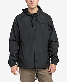 RVCA Men's Hooded Coaches Jacket