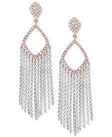 EFFY® Diamond Fringe Drop Earrings (1/2 ct. t.w.) in 14k White & Rose Gold