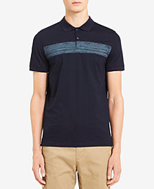 Calvin Klein Men's Liquid Touch Space-Dyed Stripe Polo