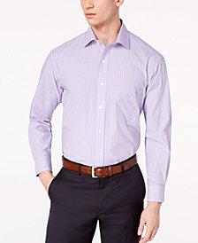 Club Room Men's Classic/Regular Fit Stripe Dress Shirt, Created for Macy's