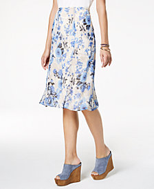 NY Collection Petite Floral-Print Skirt