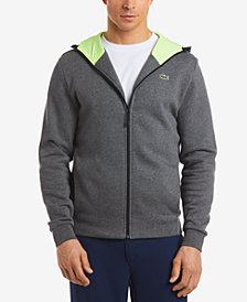 Lacoste Men's Brushed Fleece Full-Zip Hoodie