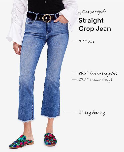 dba1366b1 Free People Raw-Hem Straight Crop Jeans & Reviews - Jeans - Women ...