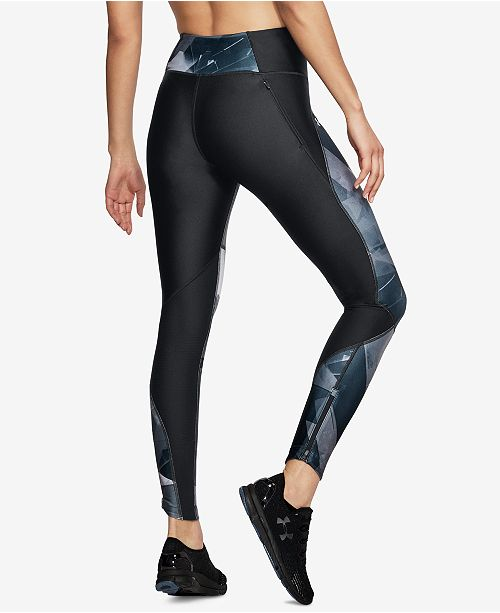 Leggings Armour Fly Printed Fast Under Gray HeatGear® Black X4Rwx5a