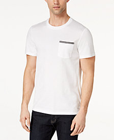 Calvin Klein Men's Stripe Pocket T-Shirt