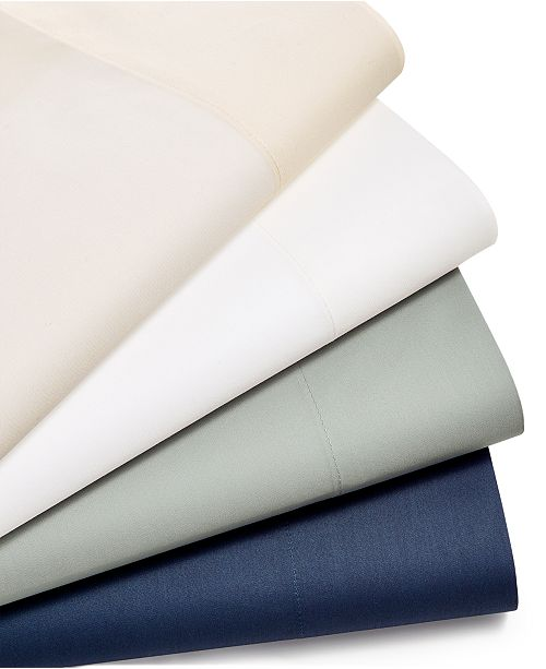 Martha Stewart Collection CLOSEOUT! Solid 220 Thread Count 3-Pc. Twin XL Sheet Set, Created for Macy's